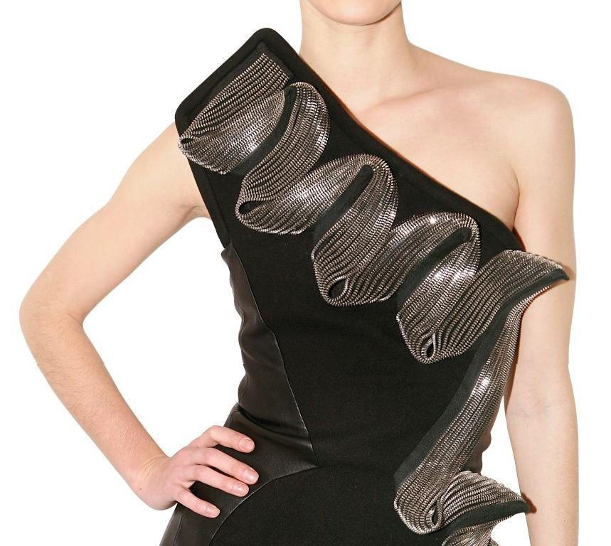 David Koma zip dress Luisaviaroma 1