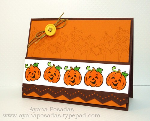 Halloween Card- Orange Pumpkins (2)