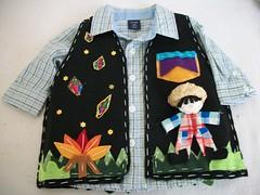 Festa Junina (Adri Comelli) Tags: flor santos feltro boneca patchwork festa cenrio decorao junina vestido caipira roupa espantalho bandeirinhas colete