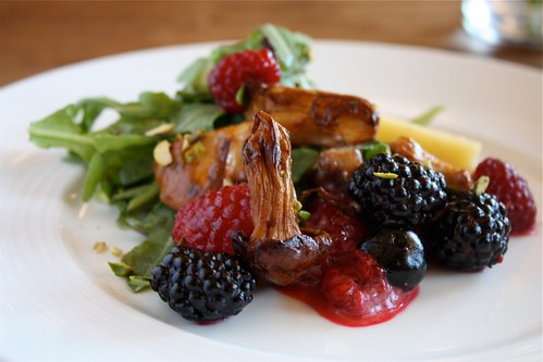 Mountain Berry and Chantarelle Salad...amazing!