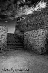 Staircase2 (mahmood.2010) Tags: white black castle photo bahrain picture staircase mahmood  1image