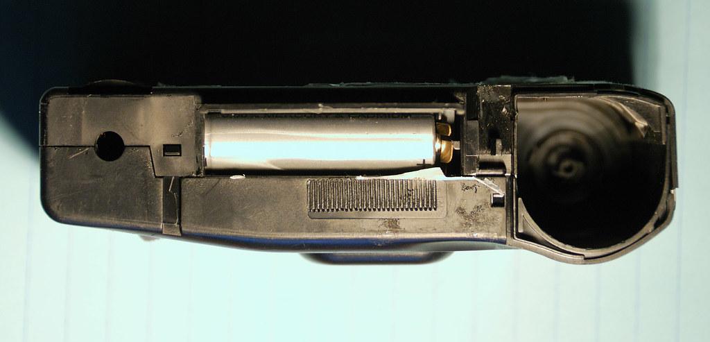 Disassembling a Konica Single Use Camera — 5 Battery Chamber Open