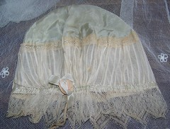 Pale Green Silk & Ribbon Rosette & Lace Boudoir Cap 3 (mondas66) Tags: net ruffles ribbons lace embroidery silk cap boudoir ribbon flapper taffeta satin scallop bobbin lacy netting bonnet tulle rosette nightcap rosettes edwardian frilly valenciennes ruffle frills ecru frill ruffled lacework frilled frilling frillings befrilled