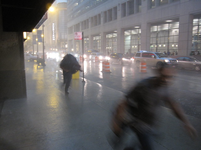 Rain storm in Chicago