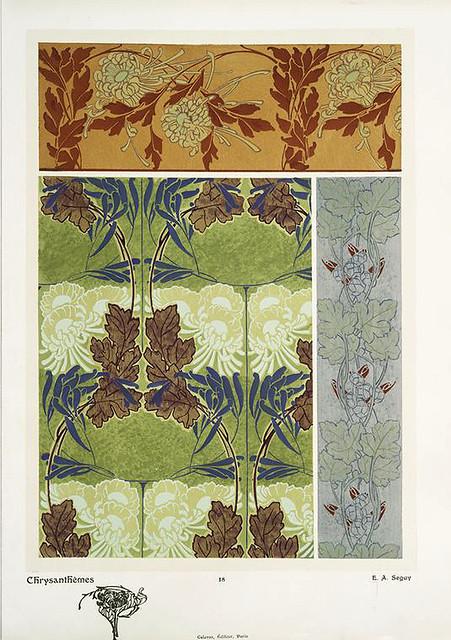 004-Crisantermos-Les fleurs et leurs applications decoratives 1902- Eugene Alain Seguy