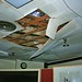 Collapsing ceiling in main office