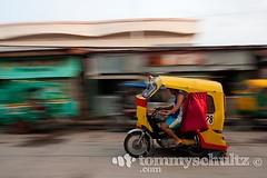 Philippine 'tricycle' pedicab speeding on a Surigao City street (tommyschultz) Tags: asia southeastasia philippines mindanao siargao photooftheday