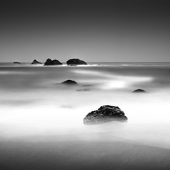 Space Peanut (maxxsmart) Tags: california longexposure summer blackandwhite bw seascape beach june fog contrast canon landscape coast spring sand rocks warm waves sonoma pacificocean shellfish sonomacounty saltwater seafoam 2010 fg duncanscove ef2470f28lusm bwnd110 flatgrey foamtrails 10stopsolidnd hardedgendgrad lee9ndgrad theshapeofwhatstocome