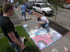 Captain America Chalk