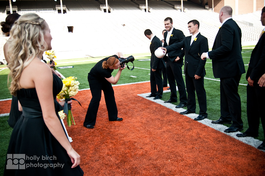 Memorial Stadium wedding photographer | Holly @ work