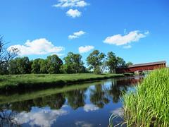 Vaholm covered bridge at Tidan in Sweden #