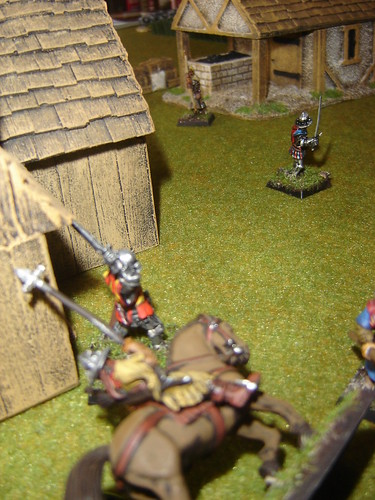 As Geoffrey of Brabant flees arrows kill squire