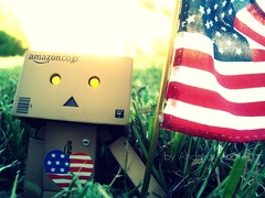 Happy Independence Day!!! (Sock Hop Adoption Shop) Tags: usa toy actionfigure box manga fourthofjuly 4thofjuly independenceday redwhiteandblue danbo boxrobot danboard