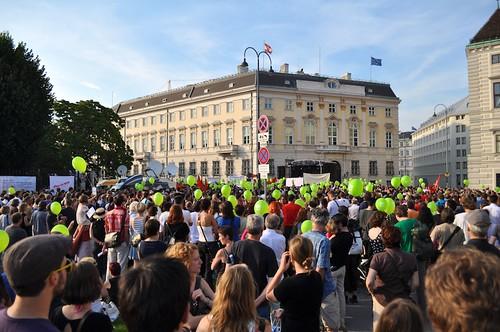 Demo für menschenwürdige Asylpolitik
