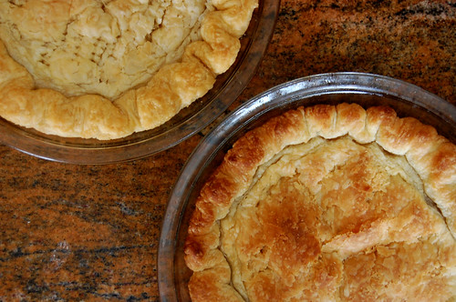 sunken pie crusts 1 + 2