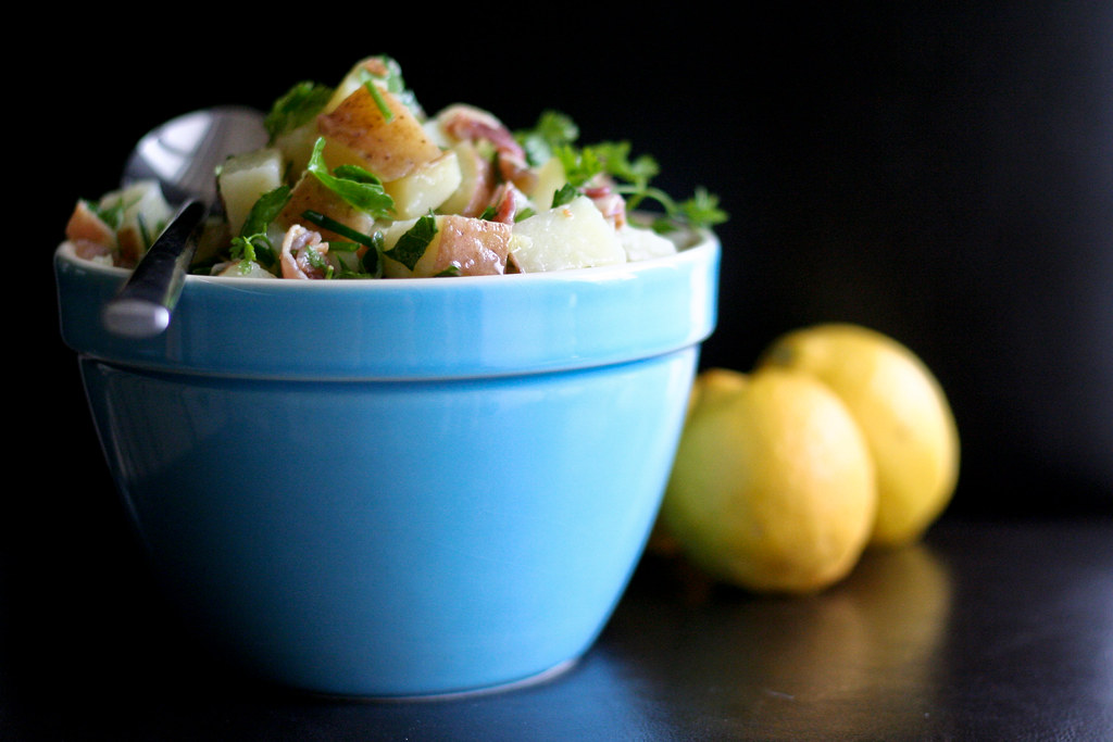 Pancetta Potato Salad with Lemony Herb Vinaigrette