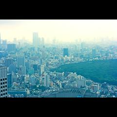東京 {Explored!} (edwardkb) Tags: city japan skyline tokyo skyscrapers metropolis tmgb