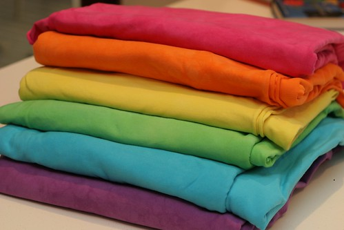 rainbow organic cotton spandex