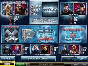 free X-Men slot mini symbol