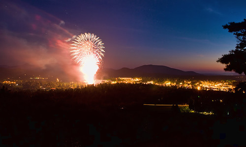 Fireworks Over Lake Placid & the High Peaks
