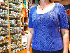 Knitting in silk for the Greek Summer (sifis) Tags: blue summer canon knitting holidays top silk knit athens greece vest s90 handknitting αθηνα sakalak βελονεσ πλεκω πλεκτο πλεξιμο νημα