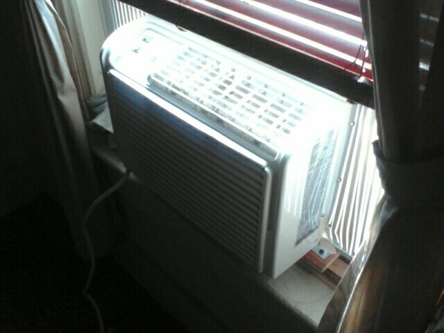 """New"" Air Conditioner in Bedroom"