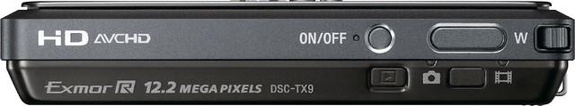 cámara digital Sony TX9 3D botones