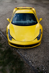 458 Italia ([ JR ]) Tags: face car sport yellow jaune canon eos italia top bordeaux ferrari exotic 17 50 tamron supercar maranello 458 550d fialeix