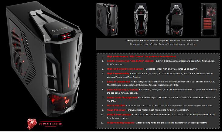 Aero Cool Bx-500 giá 80$ ~ 1.624.000 vnđ (giá lẻ 125$ Off hết 31/01/11)