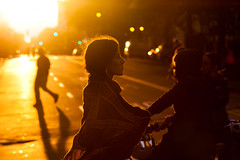 Sun Begins to Set 2, Oakland Riots, 2010 (Thomas Hawk) Tags: california usa oakland riot unitedstates 10 unitedstatesofamerica protest fav20 eastbay riots fav10 fav25 superfave oscargrant oaklandriots oaklandlocal johannesmersehle oaklandca070810 oaklandriots2010