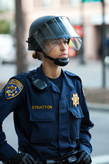 Officer Stratton, Oakland Riots, 2010 (Thomas Hawk) Tags: california usa oakland riot cops unitedstates 10 unitedstatesofamerica protest police eastbay riots oaklandpd fav10 oaklandpolicedepartment oscargrant oaklandriots oaklandlocal johannesmersehle oaklandca070810 oaklandriots2010