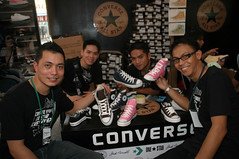 The friendly lacing crew ready to transfer your kicks into something extraordinary