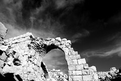 Isolated Shobak (... Arjun) Tags: door blackandwhite bw 15fav distortion castle window monochrome 1025fav 510fav religious iso100 blackwhite ancient ruins war asia christ cross montreal religion jesus wide perspective middleeast dramatic kingdom wideangle monotone 100v10f jordan remote 24mm f11 deadsea crusade 2010 qasr crucify crusades ruleofthirds hashemite  shobak canonef24105mmf4lis offthebeatentrack bluelist   shobakcastle shawbak canoneos5dmarkii shoubak canon5dmarkii monsregalis kingdomofjerusalem crusaded  alshobak alshawbak crakdemontreal fortressoftheroyalmount gettyvacation2010