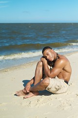 L.L. Burrell - Tucked II (willstotler) Tags: leica shirtless summer man black hot male beach muscles fashion 35mm pose naked de model photoshoot african chest handsome posed posing summicron american m8 africanamerican delaware fitness toned abs ll asph gq bowers burrell summicron35mm bowersbeach leicam8 summicron35mmasph willstotler mm798731 798731 llburrell