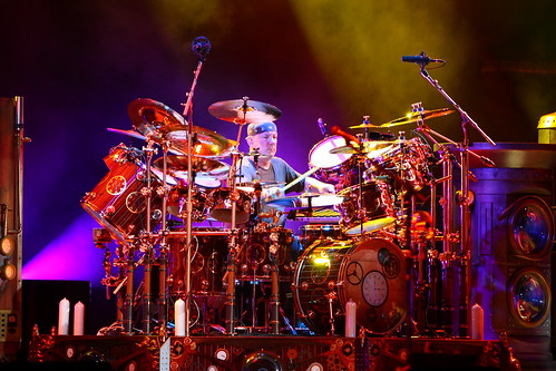 Neil Peart Time Machine Drum Kit. Neil Peart and Drumkit