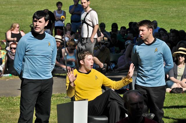 Spock, Kirk, Bones