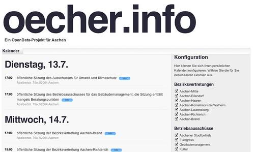 oecher.info - Kalender