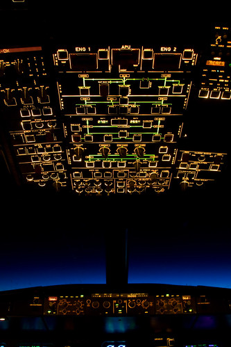 Overhead panel in the night