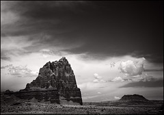 temple of the sun (anjan58) Tags: bw offroad capitolreef templeofthesun cathedralvalley stealthispicture abitdramaticperhapstoomuch