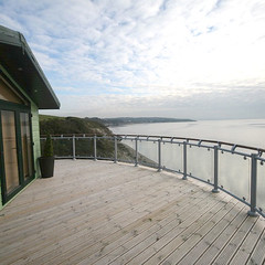Commercial Fusion Glass Panel System (Richard Burbidge) Tags: decks decking deckrailing deckboards wooddecking gardendecking richardburbidge deckingbalustrade deckingrails deckingbalustrades