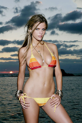Brooklyn Decker bikini photo on iPhone Wallpaper