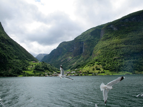 View of the Fjord and Undredal - Aurlandsfjorden, Norway