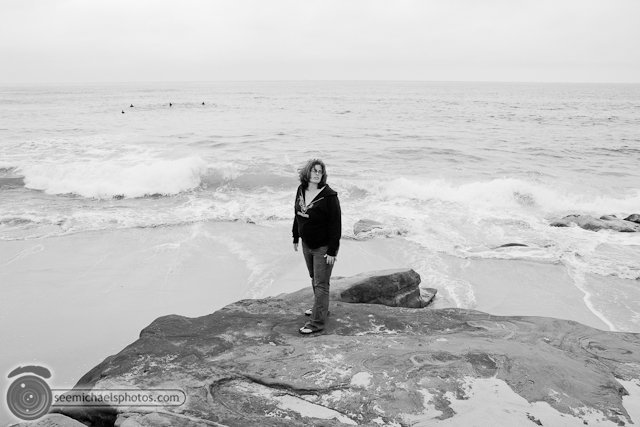 Windansea Beach with Heather 70810 © Michael Klayman-006