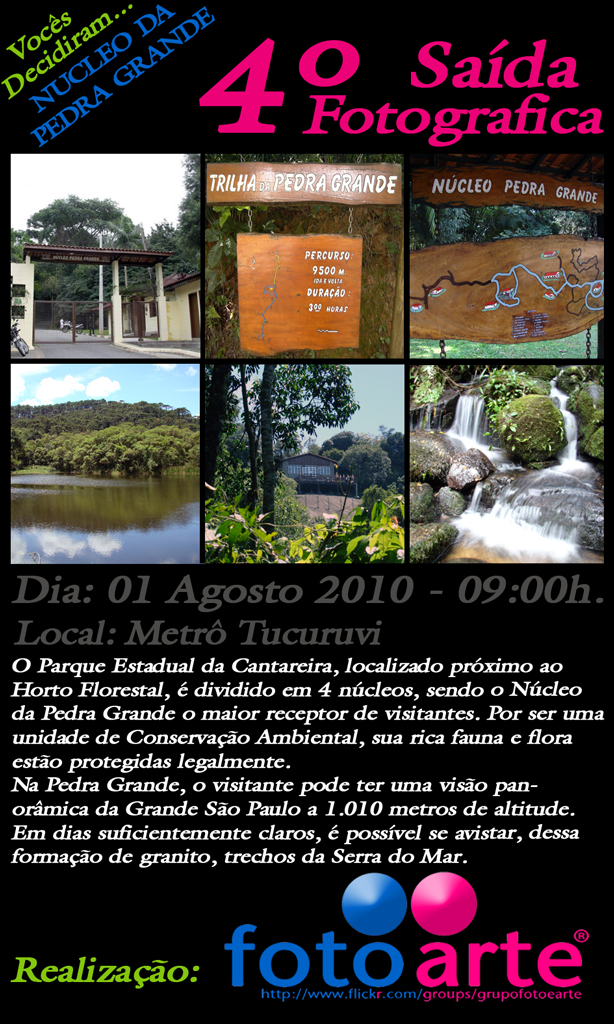4° Saida Fotografica / NUCLEO DA PEDRA GRANDE 01/07/2010