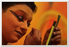 Damayanthi-Make up (l i j) Tags: india eye art public yellow mirror singapore theatre photos performance makeup kerala dancer backstage drama lij greenroom kathakali indiandance indianclassicaldance classicaldance mudra  danceofindia pf110 lijesh nalacharitham   kalamandalamvijayakumar  indianclassicaldancephotos sembawangcc    lijeshphotography classicaldancesofindia  classicaldancephotos classicaldanceimages performingartindia keralaclassicaldancephotos wwwfacebookcomlijeshphotography
