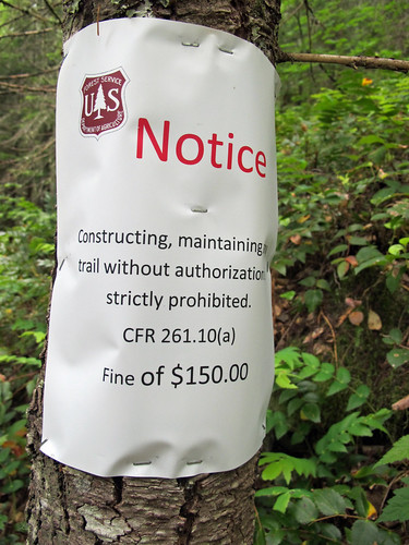 Threat on old Mason Lake Trail