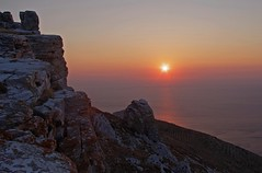A sunrise seen in the High Castle of Korthion, Andros (n.pantazis) Tags: blue red sea sky sun castle sunrise high plateau greece elevation fortress andros pentaxkx aegeansea highcastle anawesomeshot korthi  korthion    epanokastro