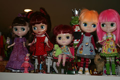 The girls ready for the Doll Meet