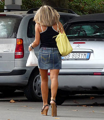 Shortleg in jeans (abi111) Tags: shortleg builtuphighheel