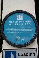 Photo of John Greene Crosse blue plaque